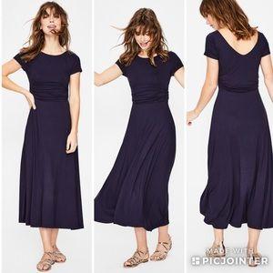 Boden Valerie Jersey Dress Maxi Navy Blue J0129 8